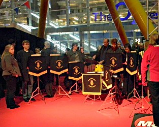 Farnborough Concert Band on the Red Carpet at the Brit Awards 2011