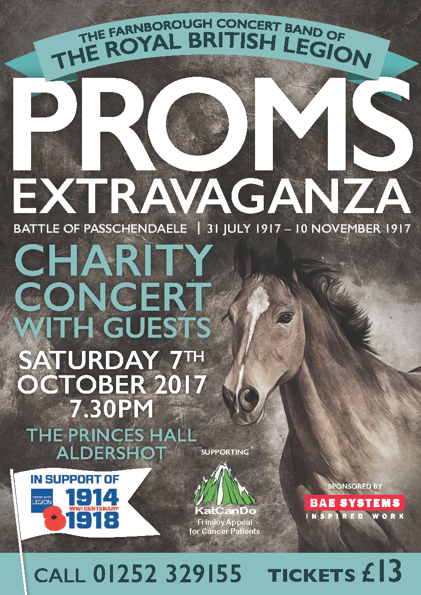 The Farnborough Concert Band of the Royal British Legion Proms Extravaganza